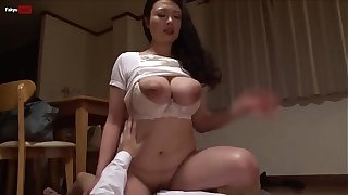 massive tits Asian gives the best blowjob before hard doggy style