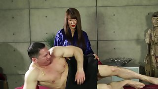 Mature Asian hotness Tiffany Rain has her twat trained by John Strong