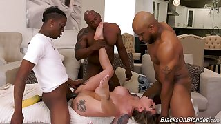 Hot Karma Rx gets masturbating in the air some interracial porn overwrought black dudes