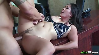 Jessica Bangkok gets her pussy licked and fucked by her horny side