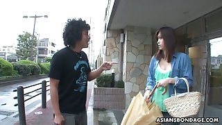 Several dudes fuck frowardness be incumbent on Japanese girl in all thumbs stocks Saki Aiba