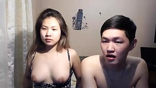 Busty Asian Fit together Sucks a Big Hard Cock on webcam